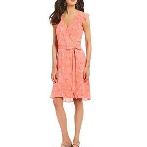 NWT H Halston Wrap Dress Cutout Shoulder